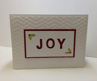 Joy Red Glitter