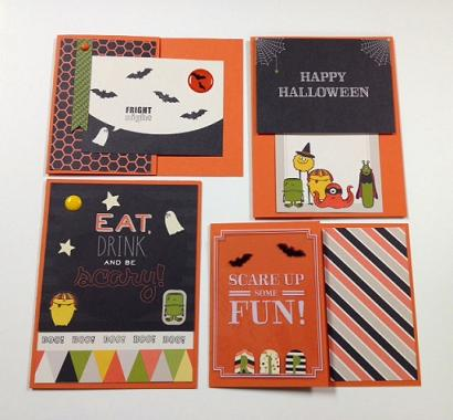 Halloween Cards Project Life