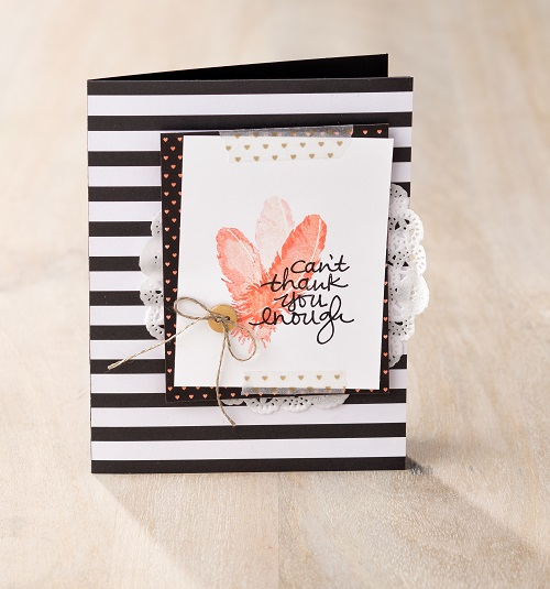 Feathered Thank You Card