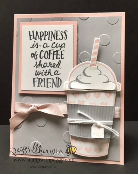 Coffee Cafe Stamp Set, Coffee Cups Framelits, Polka Dots Basic Embossing Foldere