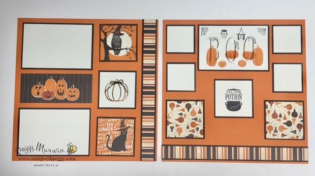 Spooky Cat stamp set, Pick a Pumpkin Stamp Set, Festive Phrases Stamp Set, Spooky Nights designer paper, Cat Punch, Large Letters Framelits, Patterned Pumpkins Framelits