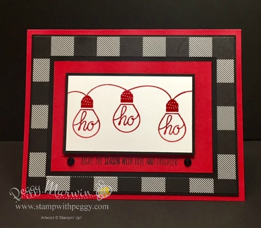 Wished All Aglow stamp set, Merry Little Christmas designer paper, Black Rhinestone, Christmas