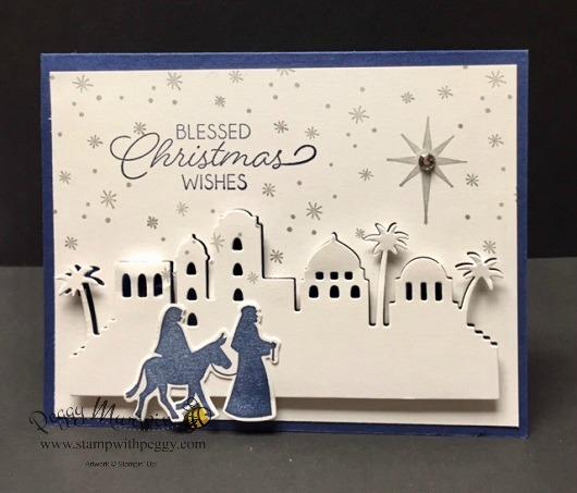 Night in Bethlehem stamp set, Bethlehem Edgelit Dies, Christmas, Religious