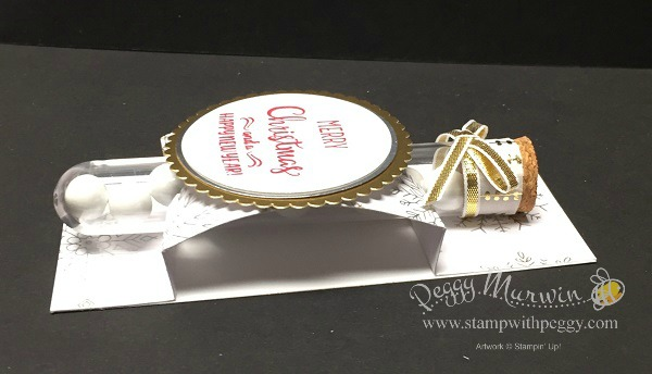 Snowflake Sentiment stamp set, Year of Cheer designer paper, Gold Foil Sheet, Silver Foil Sheet, Treat Holder