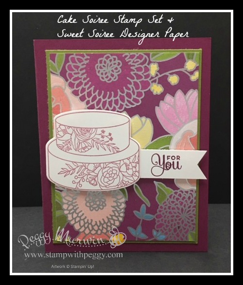 Cake Soiree Stamp Set, Sweet Soiree Designer Paper, Triple Banner Punch