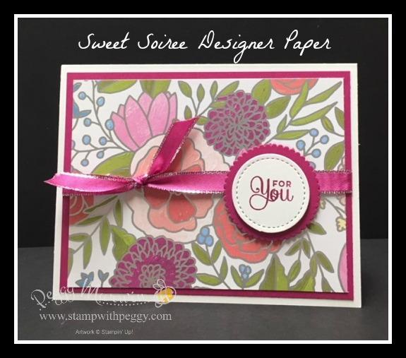 Cake Soiree Stamp Set, Sweet Soiree Designer Paper, Berry Burst Metallic Edge Ribbon
