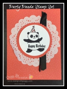 Party Panda Stamp Set, Tutti-Frutti Cards & Envelopes, Birthday