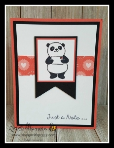 Party Panda Stamp Set, Bubbles & Fizz Designer Paper, Just a Note
