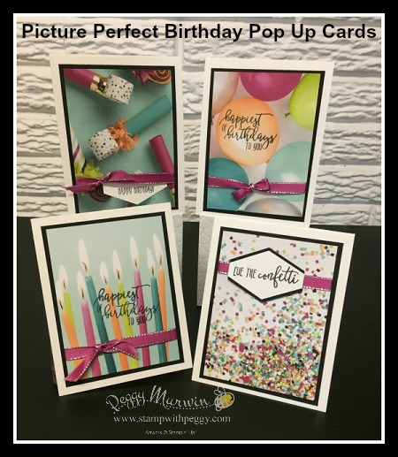 Picture Perfect Birthday Stamp Set, Picture Perfect Party Designer Paper, Pop-Up Cards, Stampin' Sisters Retreat