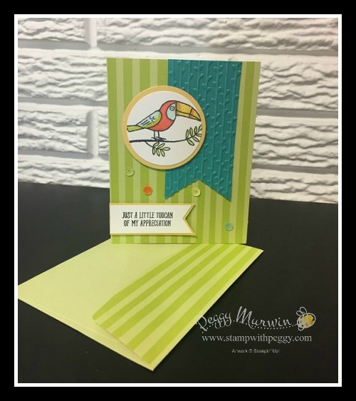 Bird Banter Stamp Set, Petal Pair Embossing Folder, Tutti Frutti Cards & Envelopoes, Stampin' Sisters Retreat