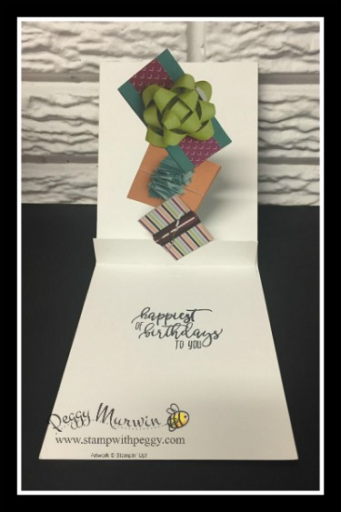 Picture Perfect Birthday stamp set, Picture Perfect Party designer paper, Berry Burst Ribbon, Tailored Tag Punch, Pop Up Card, Stampin' Sisters Retreat