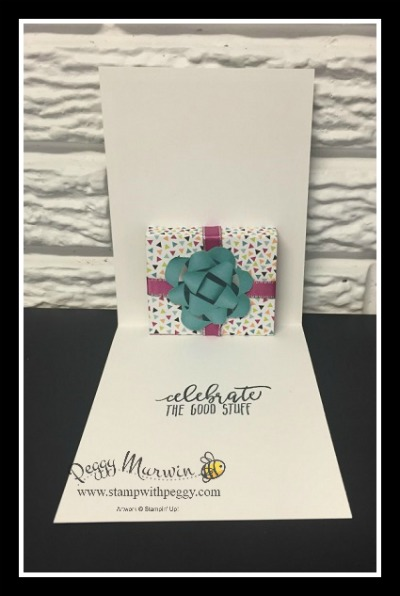 Picture Perfect Birthday stamp set, Picture Perfect Party designer paper, Berry Burst Ribbon, Pop Up Card, Stampin' Sisters Retreat