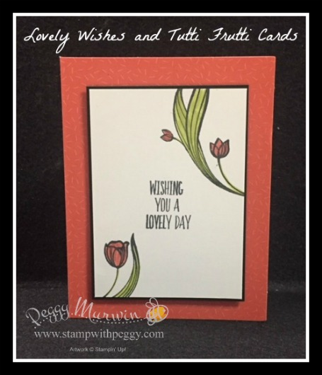 Lovely Wishes Stamp Set, Tutti Frutti Cards & Envelopes, Birthday, Just Because