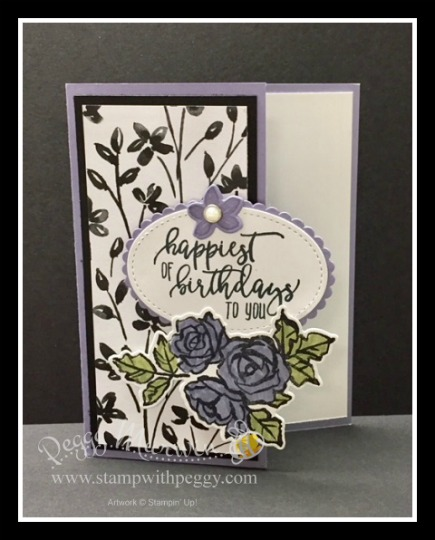 Happiest Of Birthdays With Petal Passion Suite Stamp With Peggy