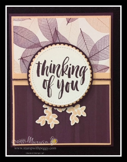 Rooted in Nature Stamp Set, Nature's Roots Framelits, Nature's Poem Designer Paper, Thinking of You