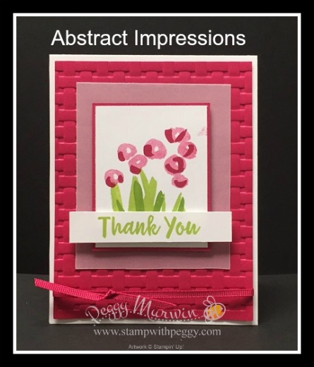 Abstract Impressions Stamp Set, Basket Weave Embossing Folder, Thank You