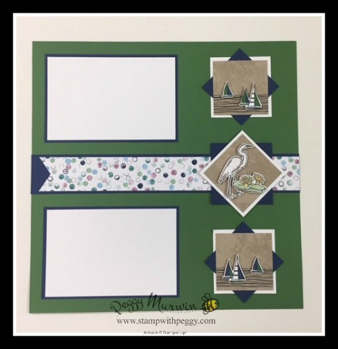 Lilypad Lake stamp set, Sea of Textures stamp set, Under the Sea Framelits, Lakeside Framelits, Masculine, Scrapbook Pages, June