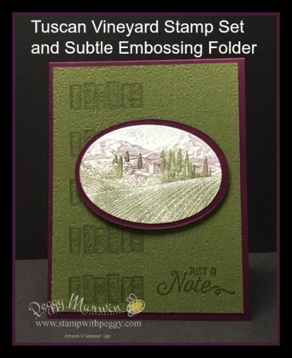 Tuscan Vineyard Stamp Set, Flourishing Phrases Stamp Set, Subtle Embossing Folder, Stamparatus