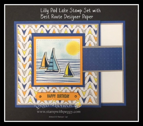 Best Route Designer Paper, Lilypad Lake Stamp Set, Happy Birthday, Masculine