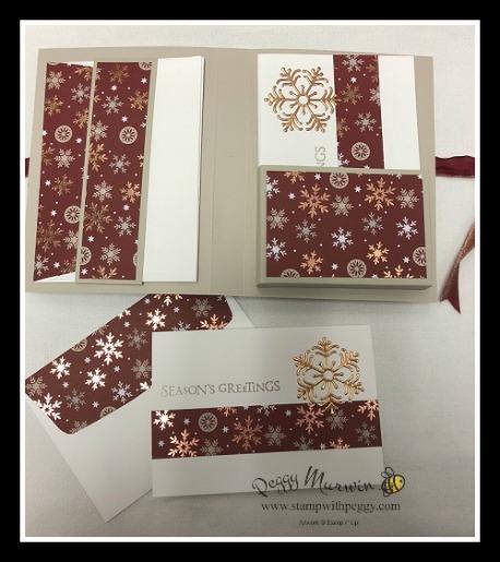 Stampin' Sisters Holiday Hoopla, Beautiful Blizzard stamp set, Joyous Noel Designer Paper