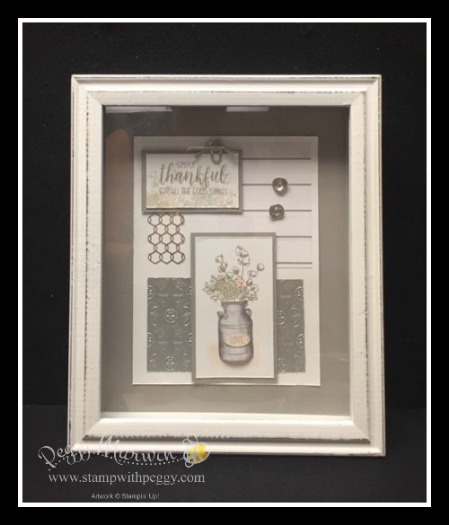 Stampin' Sisters Holiday Hoopla, Framed Art, Country Home Stamp Set, Chicken Wire, Galvanized Metal Paper, Galvanized Clips