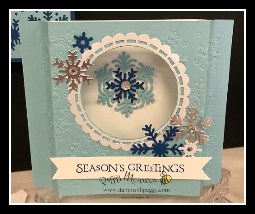Stampin' Sisters Holiday Hoopla, Beautiful Blizzard Bundle, Shadow Box Card