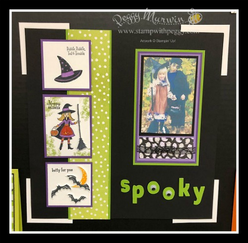 Stampin' Sisters Holiday Hoopla, Toil & Trouble Suite, Halloween, Scrapbook