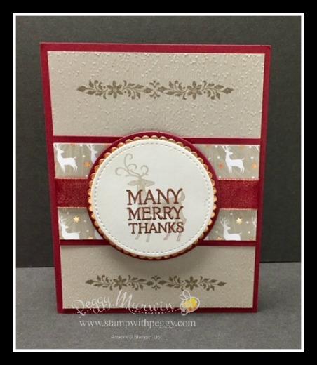 Dashing Deer stamp set, Joyous Noel designer paper, Christmas