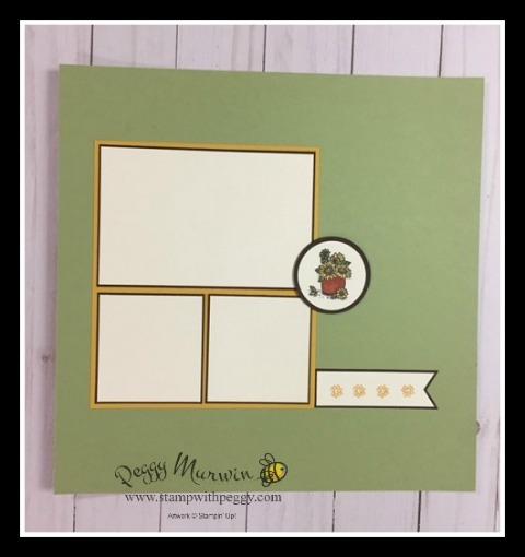 Scrap & Go Club, Scrapbook, September, Country Home Stamp Set