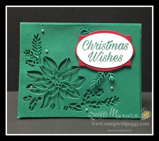 Peaceful Poinsettia Stamp Set, Detailed Poinsettias Thinlits, Christmas