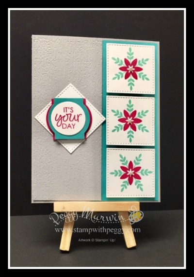 Happiness Surrounds, Christmas Traditions Punch Box, Subtle Embossing Folder, Birthday