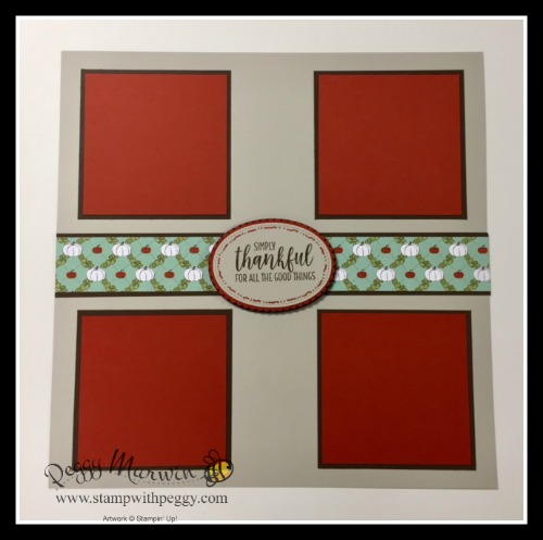 November Scrapbook Pages, Country Home Stamp Set, Country Lane Designer Paper