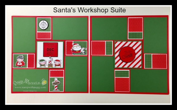 Santa's Workshop Suite, December Scrapbook, Santa's Workshop Designer Paper, Santa's Signpost Framelits