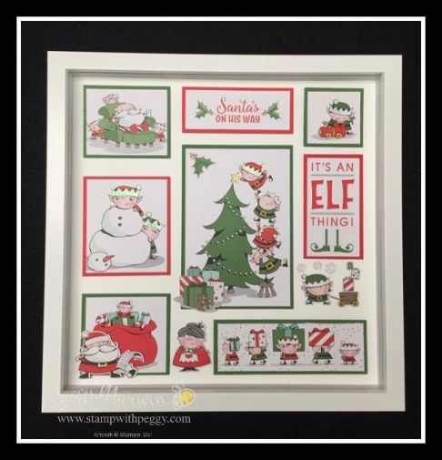 Santa's Workshop Designer Paper, Santa's Workshop Memories & More Card Pack, Christmas, Framed Art