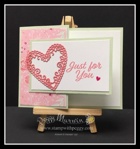 Meant to Be Stamp Set, Be Mine Stitched Framelits, All My Love Designer Paper