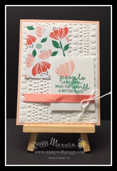 """Bloom by Bloom Stamp Set, Happiness Blooms Designer Paper, Calypso Coral 3/8"""" Satin Ribbon"""