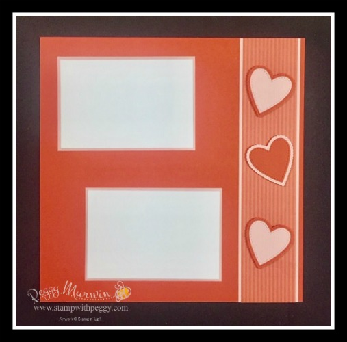 Tea Room Designer Paper, Be Mine Stitched Framelits, Valentine's Day, Scrapbook