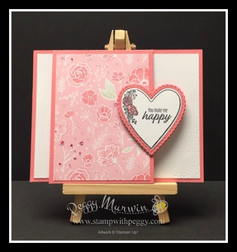 Meant to Be Stamp Set, Be Mine Stitched Framelits, All My Love Designer Paper, Fun Fold, Valentine