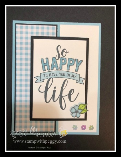 Stampin' Sisters Retreat, Amazing Life Stamp Set, Gingham Gala Designer Paper, Stamp with Peggy