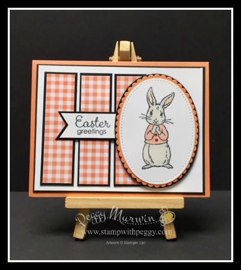 Fable Friends Stamp Set, Easter, Gingham Gala Designer Paper, Stamp with Peggy