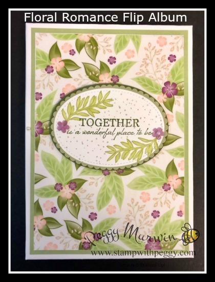 Wonderful Romance Stamp Set, Floral Romance Designer Paper, Frosted Flower Embellishments, Floral Romance Seals, Flip Album, Wedding, Shower, Baby