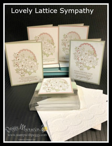 Stampin' Sisters Retreat, Lovely Lattice, Sympathy