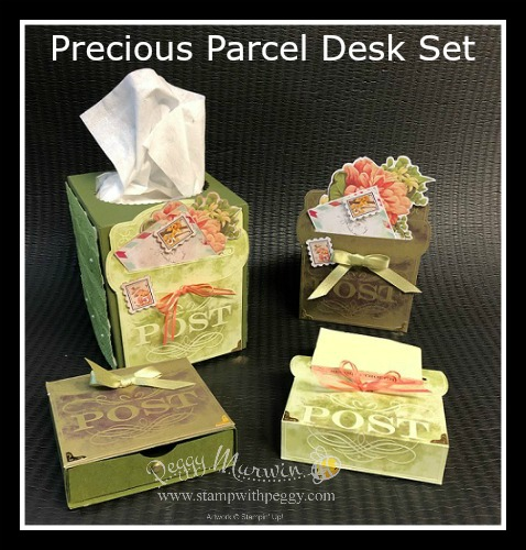 Precious Parcel Card Kit, Desk Set, Stampin' Sisters Retreat, Stamp with Peggy