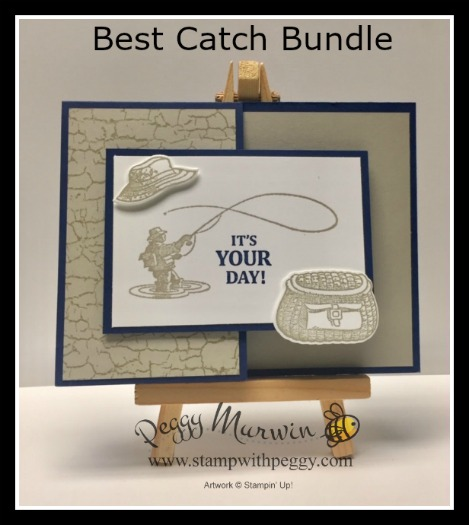 Best Catch Stamp Set, Catch of the Day Framelits, Father's Day, Masculine, Stamp with Peggy