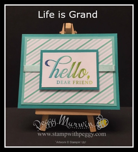Life is Grand Stamp Set, How Sweet It Is Designer Paper, Spectrum Pad, Stamp with Peggy