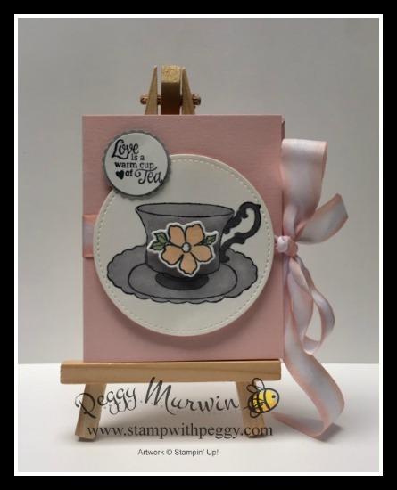 Tea Together Stamp Set, Tea Time Framelits, Tea Bag Holder, Mother's Day, Stamp with Peggy