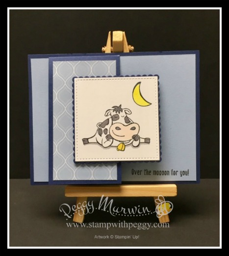 Over the Moon Stamp Set, 2019-2021 In Colors Designer Paper, Seaside Spray, Stamp with Peggy