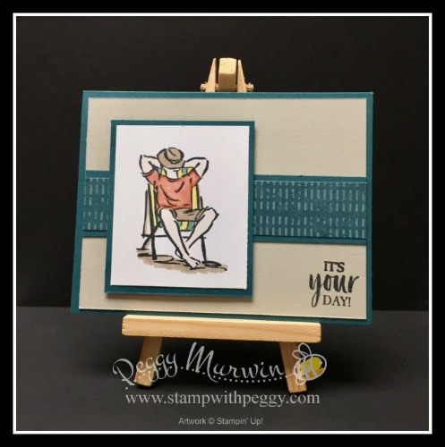 A Good Man Stamp Set, Woven Threads Designer Paper, Father's Day, Stamp with Peggy