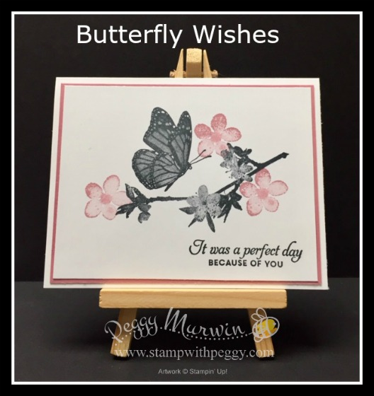 Butterfly Wishes stamp set, Stamp with Peggy