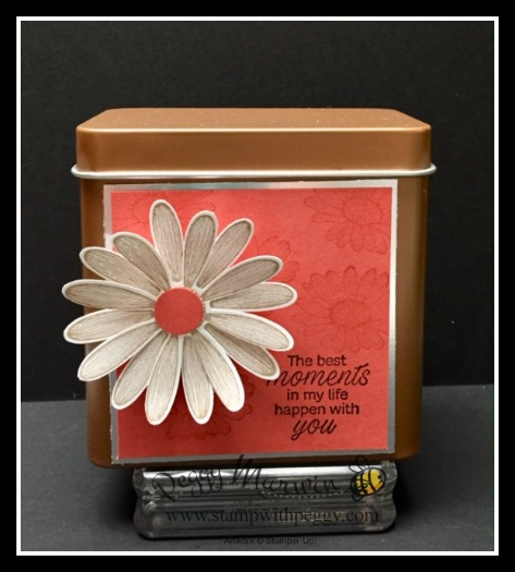 Copper Tea Tin, Daisy Lane Stamp Set, Daisy Punch, Annual Catalog, Stamp with Peggy